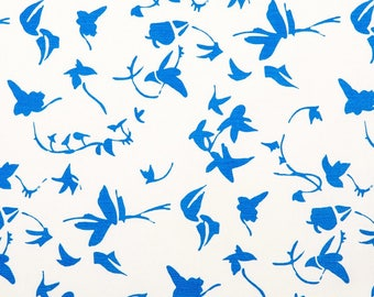 Ivy screen printed fabric sold by the metre