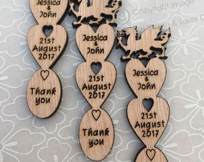 Personalised Welsh Dragon Mini Love Spoons, Favours, Vintage Wedding Decorations
