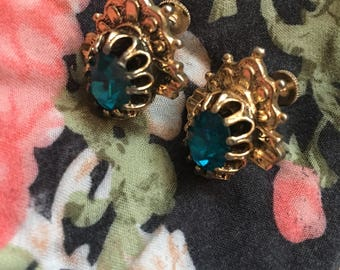 Kara sapphire And gold earrings