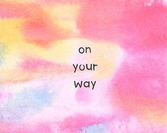 On Your Way - 2x2 Original Mini Watercolor Painting