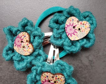 Hair accessories, crochet set