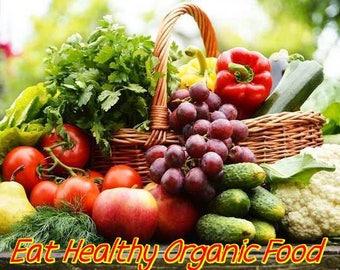 Eating Healthy with Organic Food eBook PDF Digital Download