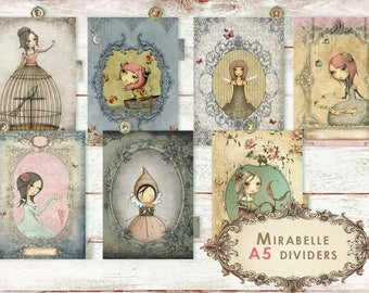 Mirabelle  _ dividers for A5 planner