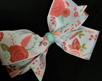 Clearance!!! Rose Floral Hair Clip Bow