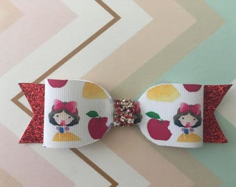 Snow White Glitter Bow