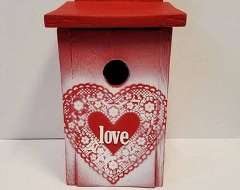 Red Passion Birdhouse