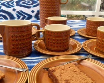 Hornsea Pottery Saffron Tea Set