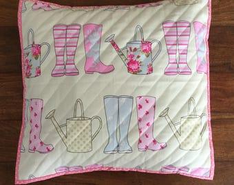 Cute gardeners cushion cover