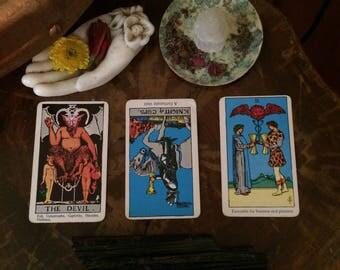 3 Card Goddess Guidance or Tarot Reading