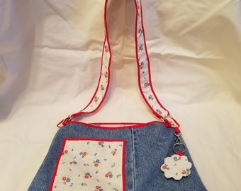 Up-cycled Denim Handbag