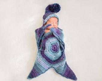 Handmade knitting star wramp for newborn babies