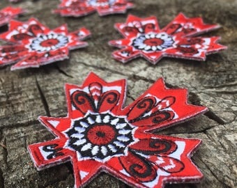 Maple Leaf - Embroidered Patch – Iron On