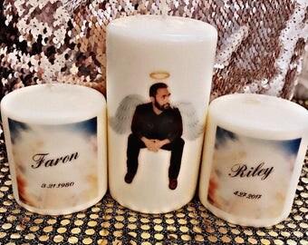 Memory custom candle set