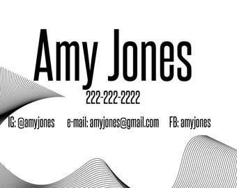 business card jones
