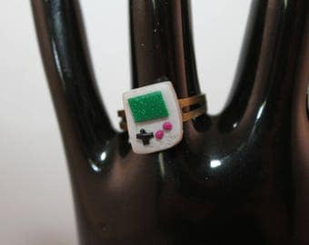 GameBoy ring polymer clay