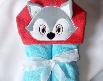 """Fox"" Terry baby bath Cape size 0/1 year"