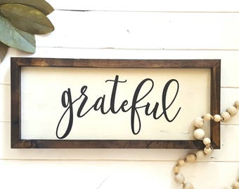 Grateful Farmhouse Sign