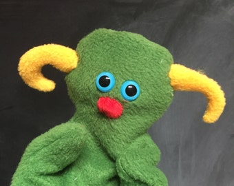 Monster Glove Puppet, Toddler Toy, Therapy Puppet, Imaginative Play, Vegan Toy, Educational Toy, sci fi
