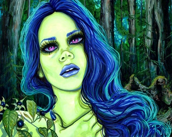 RW2 Limited Edition Print Night Shade aka Lana Del Rey By Robert Walker