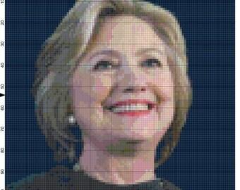 Hillary Rodham Clinton digital pattern #2