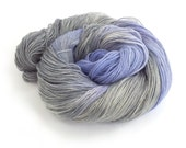 Handdyed sparkly 4ply yarn, Purple Rhapsody grey fingering, gold sparkle merino sock knitting wool, crochet Perran Yarn, variegated skein uk