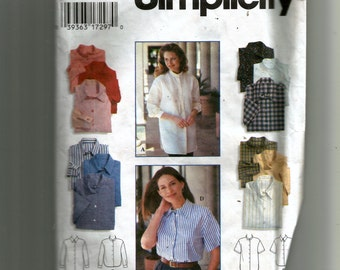 Simplicity Misses' Shirt Pattern 9818