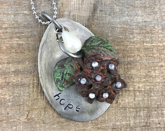 Hope Spoon Necklace-Stamped Jewelry-Earthy Floral
