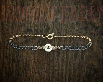 Birdhouse Jewelry - Gold and Black Bracelet
