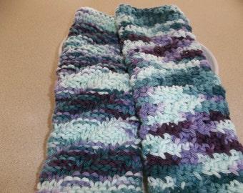 Hand Knit Dishcloths -  Wash/Dish/Face Cloths - Crochet Cloth - Knit Cloth - Gift Idea - Mulitcolor