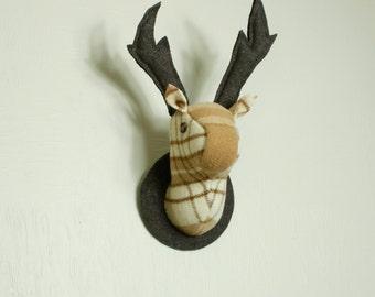Deer Head  Wall Hanging, Latte