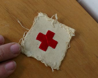 vintage red cross patch