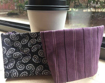 Coffee Cozy Reusable Sleeve - Goth Cowgirl
