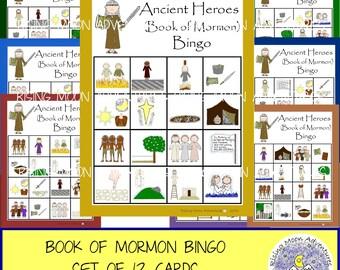 Book of Mormon (Ancient Heroes) Bingo Game Set of 12