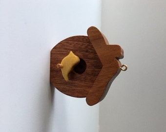 Wooden Birdhouse Ornament - Sweet Yellow Bird!