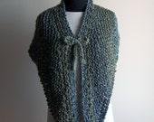 Custom Made Hand Knit Medium Triangle Shawl