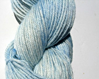 Light Blue Hand dyed Baby Alpaca Yarn, Sport Weight, 3 ply, FREE Shipping