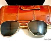 1960 Mens Sunglasses Vintage Metal Frame Sunglasses American Optical Sunglasses Optic Sunglasses