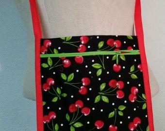 Cherry print shoulder bag
