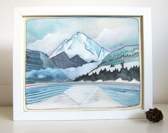 Art - Painting - Watercolor Painting - Wallowas Art - Wallowa Mountain Painting - Original Art - Original Painting - Wallowa Mountains