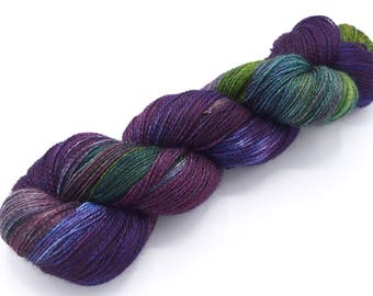 Iris You Were Here Variegated Alpaca Silk Lace Yarn Hand Dyed Yarn - In Stock