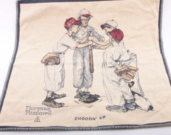 Norman Rockwell Fabric Etsy