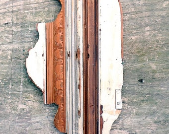 Illinois Decor, Reclaimed Wood Wall Art, Rustic State Outline, Chicago Wall Art, Wood Illinois Map, Chicago Wedding Decor, College Decor