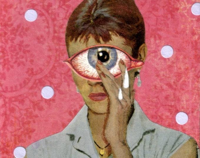 Offbeat Art, Outsider Artwork, Original Collage