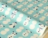 Cotton + Steel Noel - snow babies mint - fat quarter