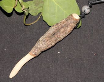 Avalon Alder  Knotted Wand Pendant - For Protection - Natural & Unusual - Pagan, Druid, Wicca, Magic, Ogham Tree