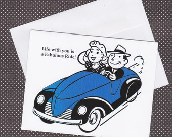 Life with you is a Fabulous Ride Greeting Card