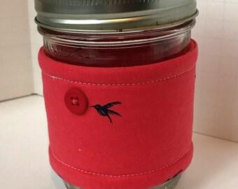 Mason Jar Wrap, Mason Jar Cozy, Mason Jar Sleeve, Teacher and Neighbor Gift