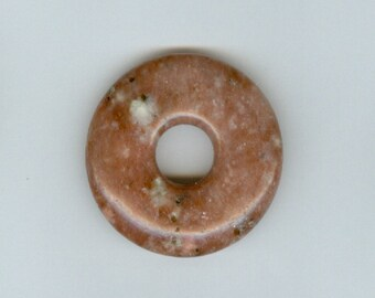 35mm Red Jasper with Spots Gemstone PI Donut Pendant Doughnut 1132M