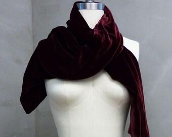Silk Velvet Scarf Handmade Free Shipping!