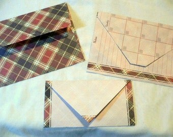 Assorted Envelopes, 7 small handmade, 5 large handmade and 10 medium size destash.